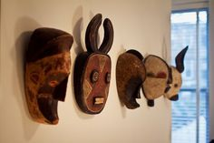 Display African Masks Design Ideas, Pictures, Remodel, and Decor - page 21