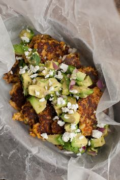 Spicy, Smoky Bean Cakes with Lime Slaw and Charred Avocado | Recipe ...