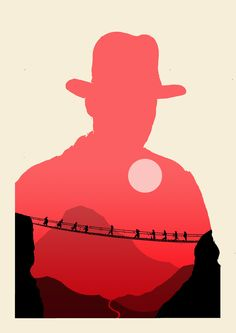 Indiana Jones Silhouette Posters (Inspired by Olly Moss) by A-dum: Cultura Pop, Cover Design, Henry Jones Jr, Olly Moss, Indiana Jones Films, Plakat Design, Alternative Movie Posters, Movie Poster Art, Arte Pop