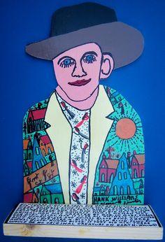 Hank Williams, Howard Finster Howard Finster, China Art, True Art, Visionary Art, Outsider Art, Painting Inspiration, Alabama, Folk Art, Primitive
