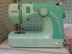Green Hello Kitty sewing machine = diy x HK = 😍 Goodbye Kitty, Hello Kitty, Electronic Toys, Janome, Sewing Machines, Diy Fashion, Colour, Electronics, Green