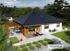 House design Astrid - top view - Small home - Bungalow House Plans, Bungalow House Design, New House Plans, Small House Design, Small House Plans, 4 Bedroom House Designs, Model House Plan, Village Houses, Facade House