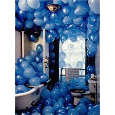 #artcubeloves a good birthday morning surprise!! by #TimWalker / would you pop all the balloons first or try to shower with them? #artcube