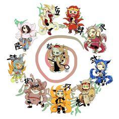jinchuriki's in cosplay of bijuus Naruto Shippuden Sasuke, Naruto Kakashi, Susanoo Naruto, Manga Naruto, Naruto Cute, Naruto Wallpaper, Wallpaper Naruto Shippuden, Otaku Anime, Tailed Beasts Naruto