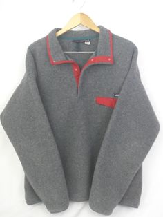 Men's Patagonia Synchilla Snap-T Pullover: Size XL Grey FREE SHIPPING #Patagonia #FleeceJacket