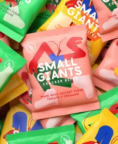 Small Giants Brand / Packaging Design / Insect Snacks / Crickets / Illustration / Sustainable / Taboo / Crackers Brand Packaging, Packaging Design, Cricket Flour, Change Maker, Crickets, Branding Agency, Design Strategy, Brand Design, Design Agency