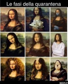Mona Lisa put through the wringer ! Funny Af Memes, Funny Instagram Memes, Really Funny Memes, Stupid Funny Memes, Funny Relatable Memes, Funny Facts, Haha Funny, Hilarious, Funny Animal Jokes