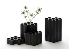 ronan + erwan bouroullec articulate cloud vases as organic black stains http://ift.tt/1JgUu4w