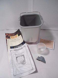 Breadman bread maker machine Pan and Kneading Blade Parts TR-600 Manual +Recipes #Breadman #PanBlade