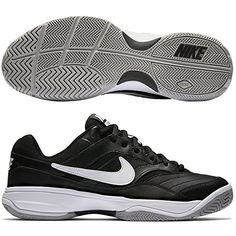 best website cdee1 315d9 NIKE Mens Court Lite TennisShoes BlackWhiteMedium Grey 85 D US     Continue  to the product at the image link. (This is an affiliate link)