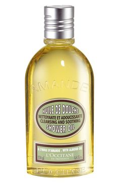 Free shipping and returns on L'Occitane Almond Shower Oil at Nordstrom.com. Transforms into a lavish, softening foam, original and unique in texture, that leaves a satin-like softness all over the body. Rich in almond oil and nourishing lipids. Cleanses gently to impart a delicate perfume. Keep handy in bath or shower as an extra-pampering alternative to Shea Butter Soap and our fragrance soaps.<br>