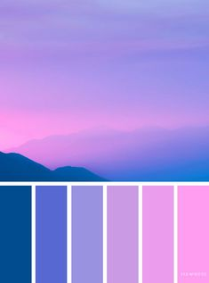 Bluebell pink and blue sky inspired color palette Color Blue pink color schemes - Pink Things Color Schemes Colour Palettes, House Color Schemes, Colour Pallette, Wedding Color Schemes, Color Combos, House Colors, Summer Colour Palette, Pink Palette, Purple Color Schemes