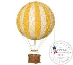 Vintage Hot Air Balloon Yellow  The Little Big Company Pty AU