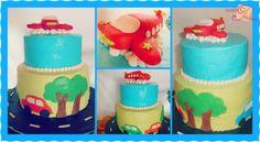 Airplane and Cars Cake