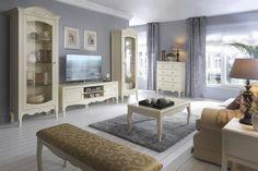 Aranżacja salonu wystrój klasyczny w kolorach szary, żółty, beż - projekt wnętrza #9488947, Homplex