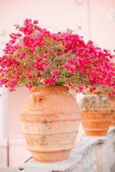 Clay pots & flowers ~ TUSCAN HOME