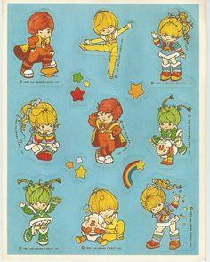 Stickers Sheet Vintage 80's 1983 Hallmark Rainbow Brite Sprite Rainbows Friends