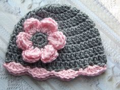 Hey, I found this really awesome Etsy listing at http://www.etsy.com/listing/104742537/crochet-baby-girl-hat-newborn-baby-girl