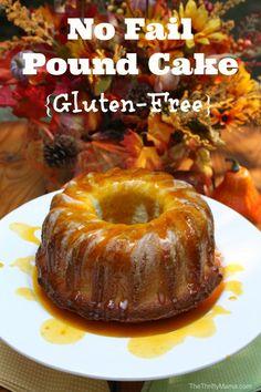 No Fail Pound Cake Recipe with Pumpkin Glaze {Gluten Free}