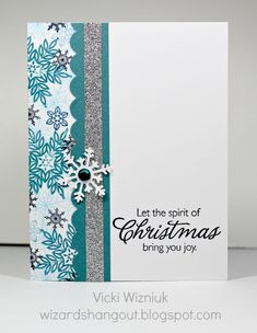 Simple christmas aqua card