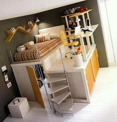 Awesome Bedroom Design. When i get married and have kids, they'll have the coolest rooms ever if i have any say in it