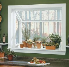Garden windows add a unique flair that can greatly improve your space and light . Garden windows a Kitchen Garden Window, Kitchen Box, Garden Windows, House Windows, Kitchen Windows, Bay Windows, Kitchen Ideas, Kitchen Sink, Kitchen Designs