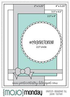 Mojo Monday 530 by Vervegirl - Cards and Paper Crafts at Splitcoaststampers Polka Dot Background, Sketch Design, Pop Design, Design Lab, Design Concepts, Graphic Design, Distressed Painting, Artist Trading Cards, Card Sketches