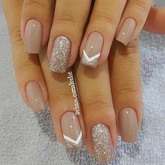 Pin on Nail art Pin on Nail art - nails - Nageldesign Cute Acrylic Nails, Acrylic Nail Designs, Cute Nails, Nail Art Designs, My Nails, Nails Design, Gel Manicure Designs, Neutral Nail Designs, Cute Simple Nails