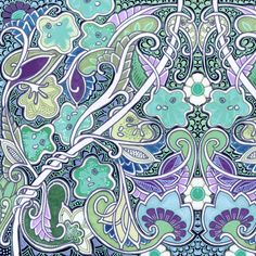 Amoebas In the Paisley Patch fabric by edsel2084 on Spoonflower - custom fabric