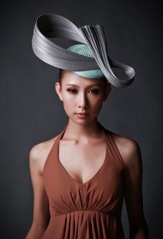 RESERVED FOR R   gray twist jinin straw beret by kmorrismilliner, $135.00
