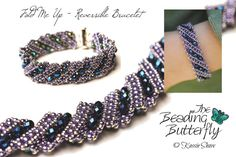 Fold Me Up Reversible Bracelet Tutorial by beadingbutterflyshop