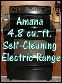 Amana 4.8cu ft Self Cleaning Electric Range Review & Giveaway