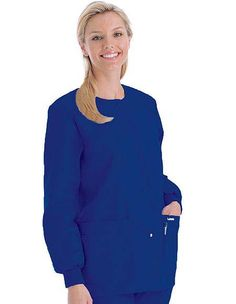 Buy Landau Womens Four Pocket Crew Neck Nursing Scrub Jacket for $22.95