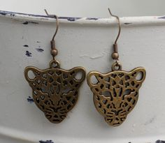 Antique Bronze Dangle Earring by FoxCharmDesigns on Etsy