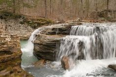 Unnamed waterfall on Big Creek -- via ExploringNWArkansas.com