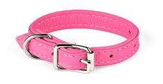 Pink leather collar for my Fifi. Cool :)