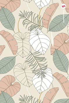 Big Leaves - Tropical Patterns   Iphone wallpaper pattern, Abstract wallpaper design, Phone wallpaper patterns
