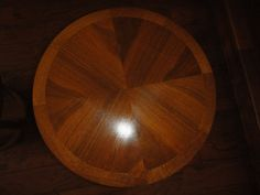 Pair of Lane Solid Wood round end tables 997-18 by MilliesAttique