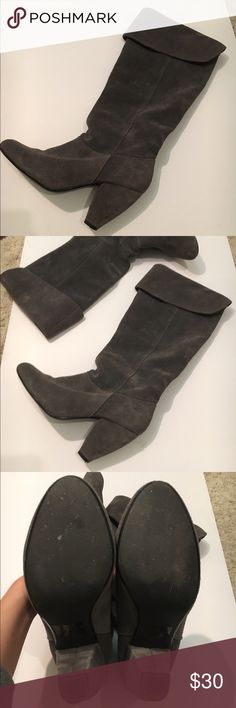 BDG Gray Suede Boots BDG Gray Suede Boots from Urban Outfitters. Excellent condition! BDG Shoes Heeled Boots