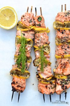 Grilled salmon kebabs | I FKING LOVE SALMON