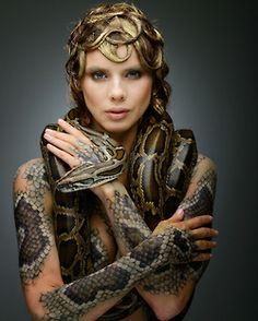 art bodypainting snakes burmese pythons