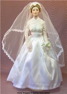 porcelain bride dolls | ... Princess of Monaco Franklin Mint Porcelain Bride Doll with Box | eBay
