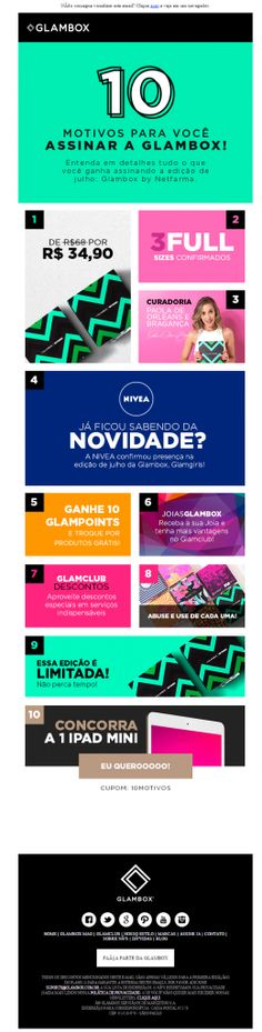 Email marketing Glambox - Junho/2015
