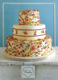 MS Weddings - Cakes Inspired by Fabric once-upon-a-wedding