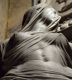 "The detail is amazing. Antonio Corradini's ""Modesty"" 1751"
