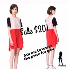 SALE $20-NWT Modern Color Block Dress S, M Ask me to lower the price to $20 for you. That way you can take advantage of shipping reduction promo. New with tag color block dress with a modern feel. Zipper closure on back. Spring is here. S, M Dresses