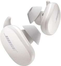 Bose QuietComfort Earbuds combine an astonishing listening experience with the world's most effective in ear noise cancelling technology in one true wireless earbud. A patented acoustic port design and a premium, high-efficiency driver provide an immersive sound experience with deep lows. The result is stunningly lifelike reproduction of sound at any level. Bose QuietComfort Earbuds also reduce noise across the full range of human hearing. Microphones inside and outside the earphones sense noise Bose Noise Cancelling Earbuds, Bose Wireless Earbuds, Sport Earbuds, Best Earbuds, Soapstone, Iphone, Cool Gadgets, Cool Things To Buy