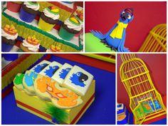 Rio Themed Birthday Party Rio Birthday Parties, 5th Birthday Party Ideas, Rainbow Birthday Party, 2nd Birthday, Rio Party, Party Time, Party Sweets, Party Planning, First Birthdays