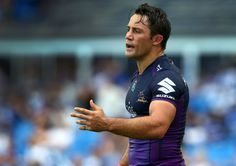 Cooper Cronk of the Melbourne Storm during the trial match against the Canterbury Bankstown Bulldogs at Belmore Sports Ground in New South Wales, Australia on 20 February, 2016.