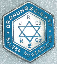 Cap badge of the Jewish Ordnungsdienst in a ghetto. (probably a Eastern-Europian copy?)